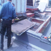 Preparing structual support for the 30 ton roof top unit.